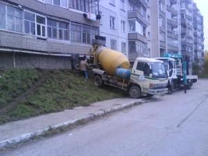 Заливка отмосток бетоном