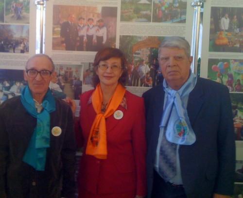 На городской конференции ТОС, 2010 год. И.А.Лебедев - крайний справа.