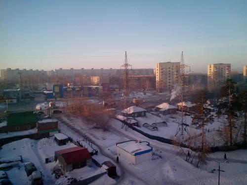 Утренний Шлюз со стороны ул.Сиреневая.