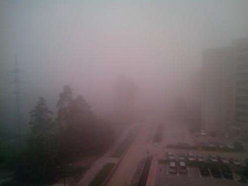 Утренний туман на Шлюзе. 7.00, 1.08.13
