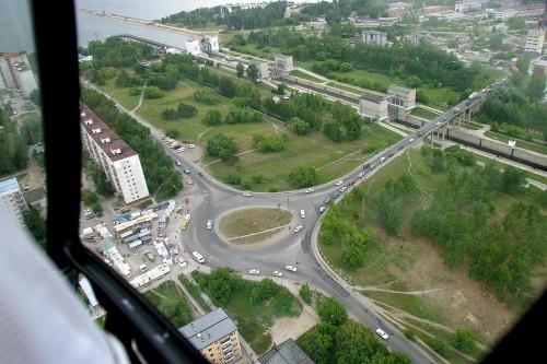 Вид на Кольцо до постройки ТЦ Маяк