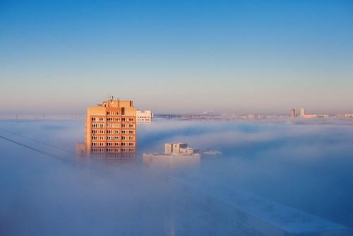 Шлюз в тумане