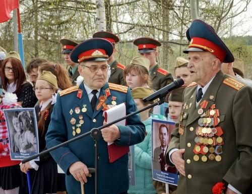 На митинге на Аллеи боевой славы выступили ветераны войны