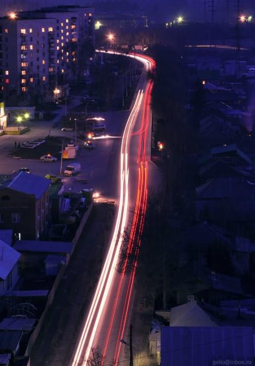 Ул.Шлюзовая ночью. Фото - Слава Степанов.