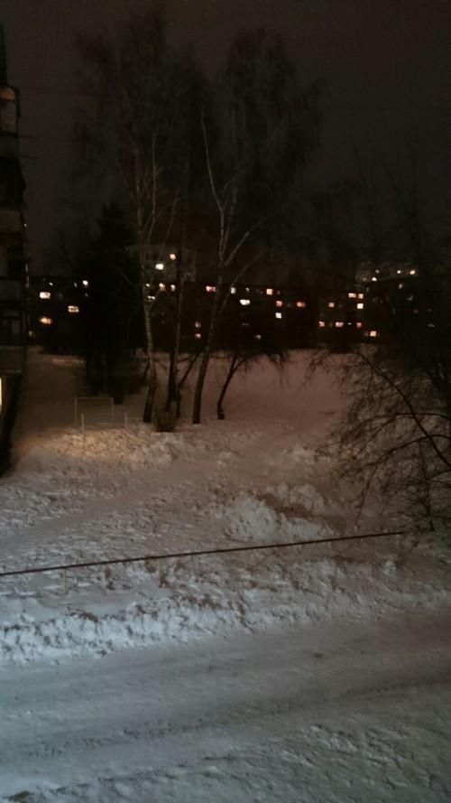 Остатки снежной крепости на Шлюзовой