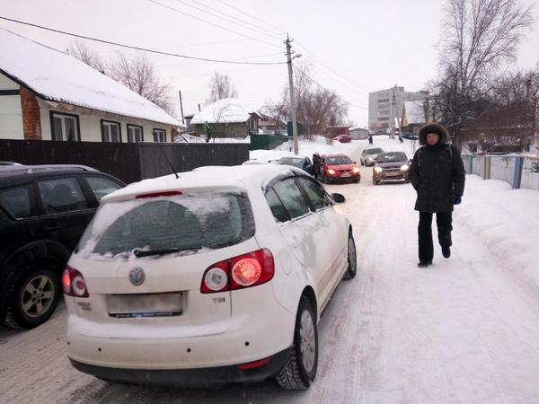 Улица Тружеников зимой