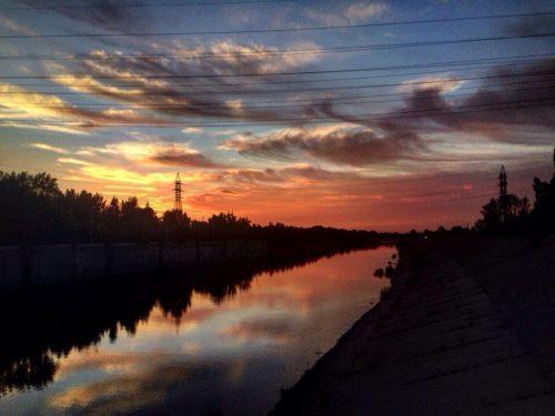 Закат на Шлюзе. Автор - Кристина Царёк