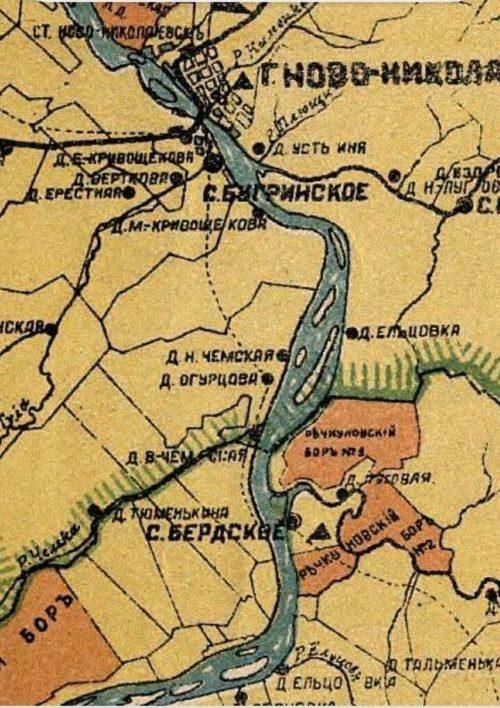 Карта 1911 года
