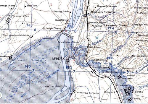 Карта 50-х годов 20 века