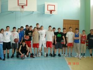 Участники турнира по баскетболу