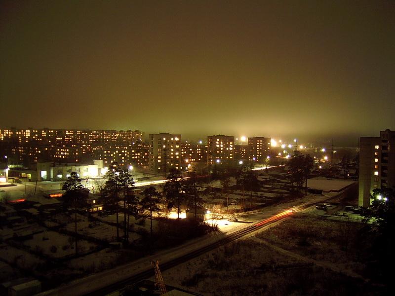 Вид на Шлюз с ул. Сиреневая